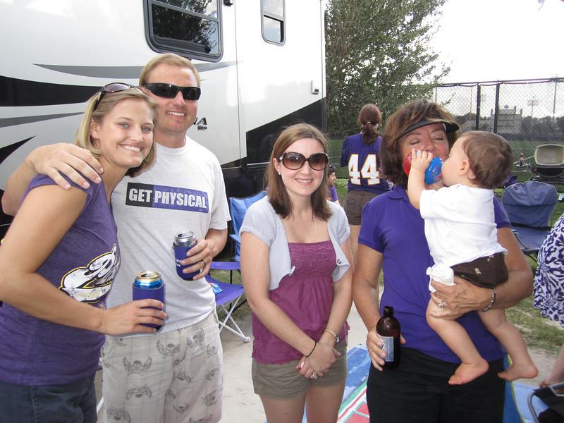 9/10/2011 ECU vs Virginia Tech  Stephanie, JG, Heather, Vicky, Brody