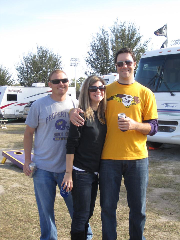 11/19/2011 ECU vs University of Central Florida - JG, Jen, Preston