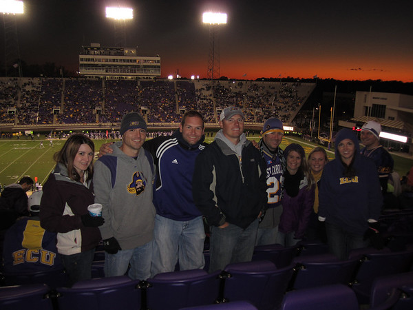 10/29/2011 ECU vs. Tulane (Homecoming) - Heather Webster, Chris Webster, Jon Deutsch, JG Ferguson, Preston Hubbard, Jen Snow, Jess Dove, Julia, Chuck Dove