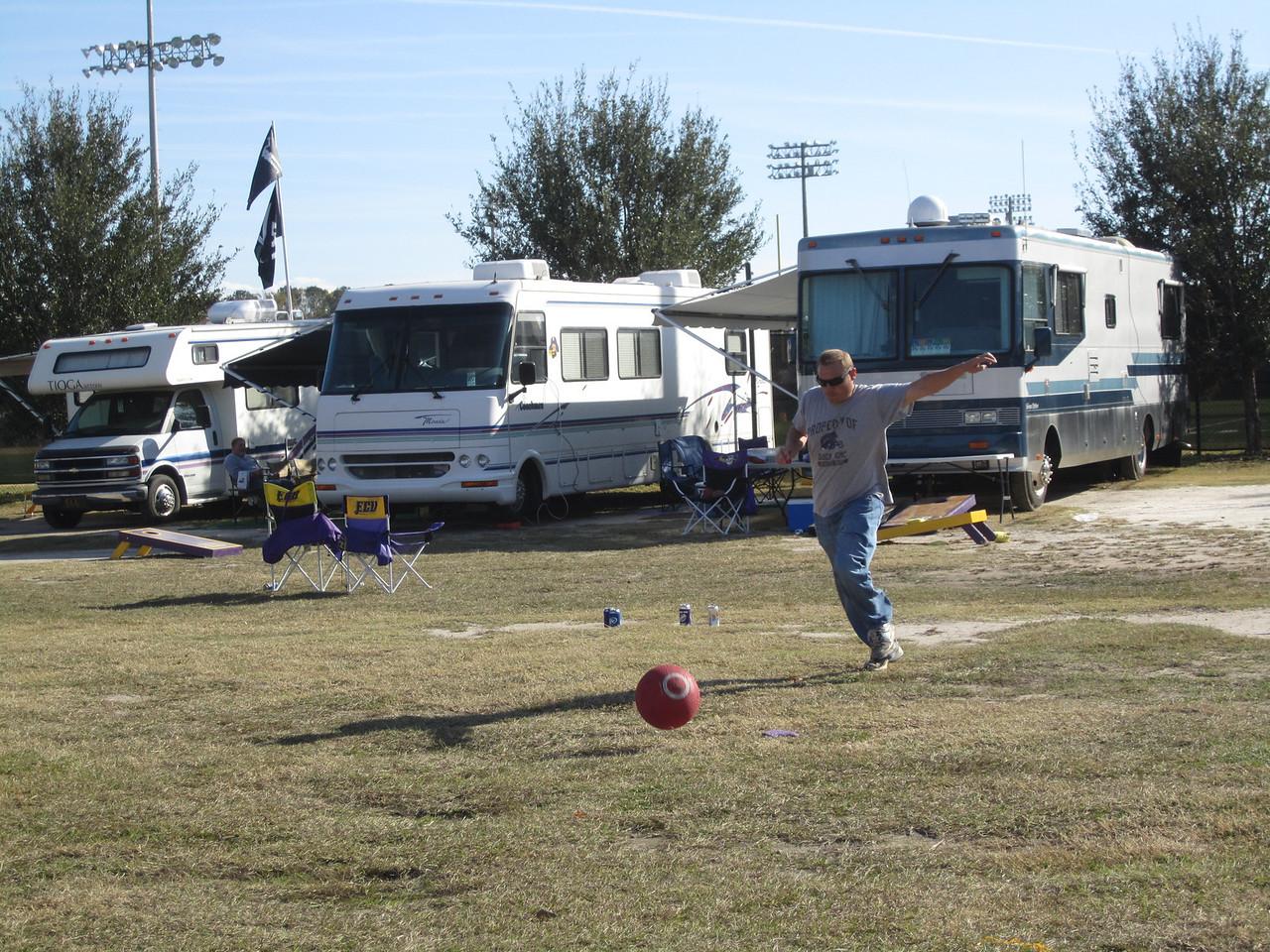 11/19/2011 ECU vs University of Central Florida - JG playing kickball