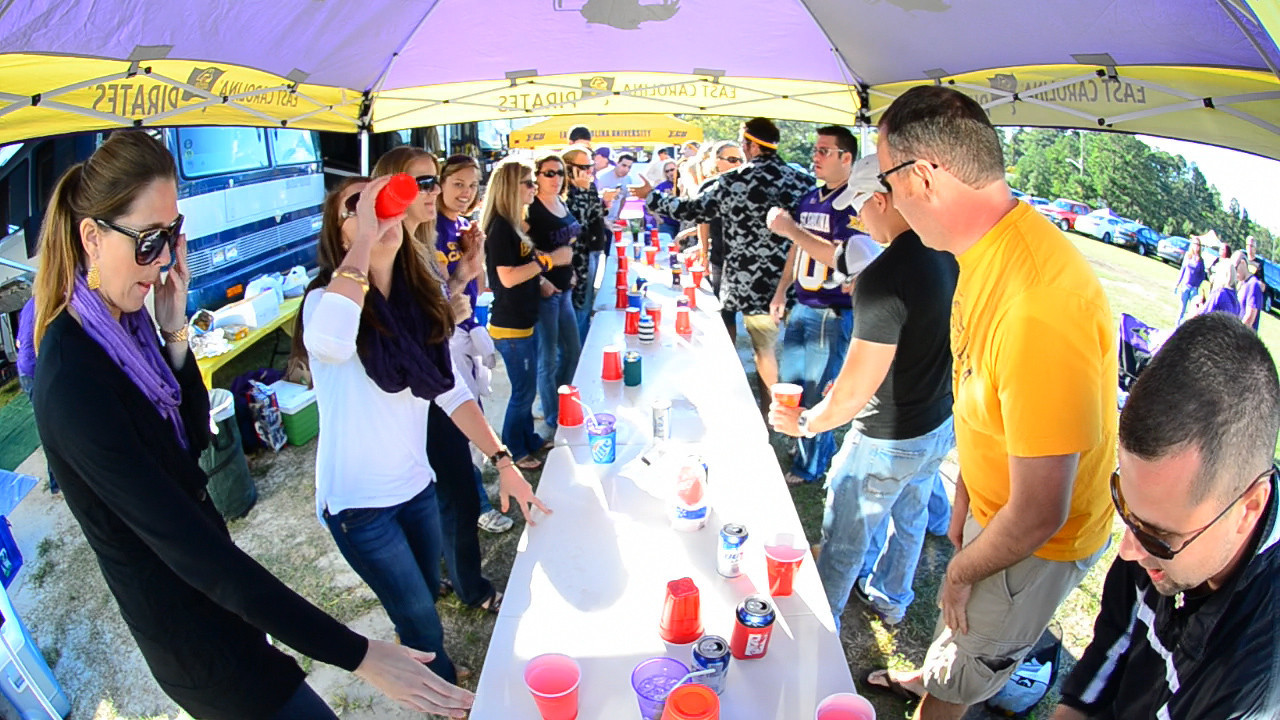 10/1/2011 ECU vs North Carolina  Flip cup