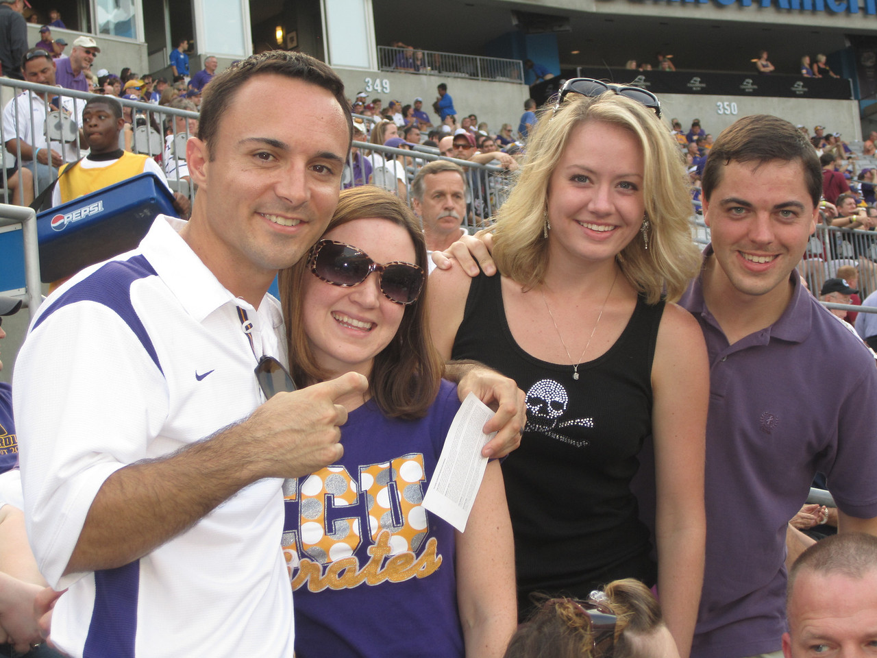 9/3/2011 ECU vs South Carolina  Chris, Heather, Brittany, Kevin