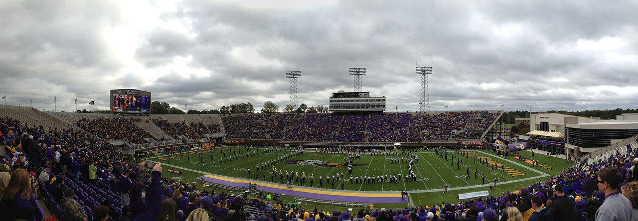 10/29/2011 ECU vs. Tulane (Homecoming) - pregame panoramic