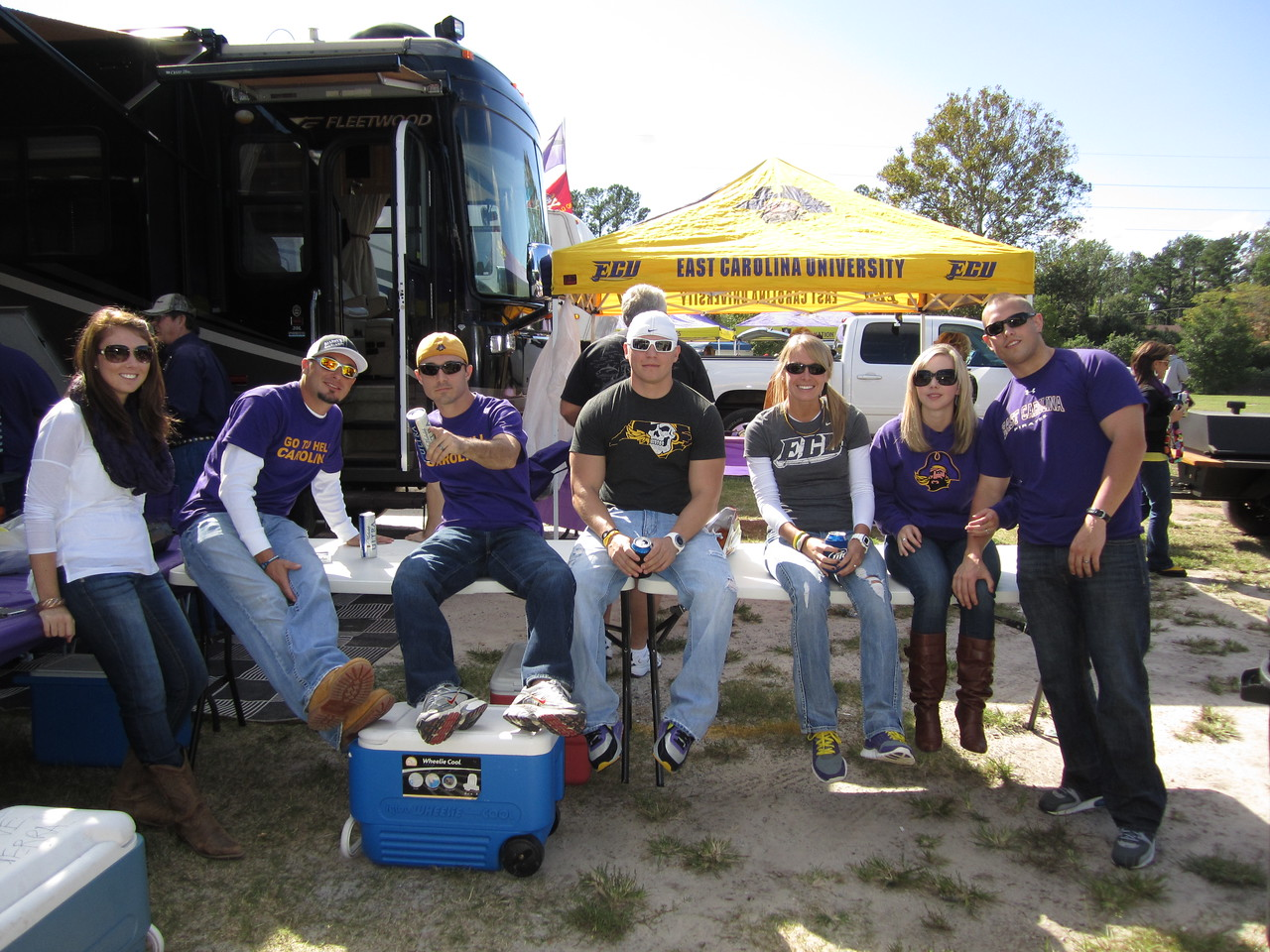 10/1/2011 ECU vs North Carolina  Nikki, Chris W, Rob, Kristin, ,
