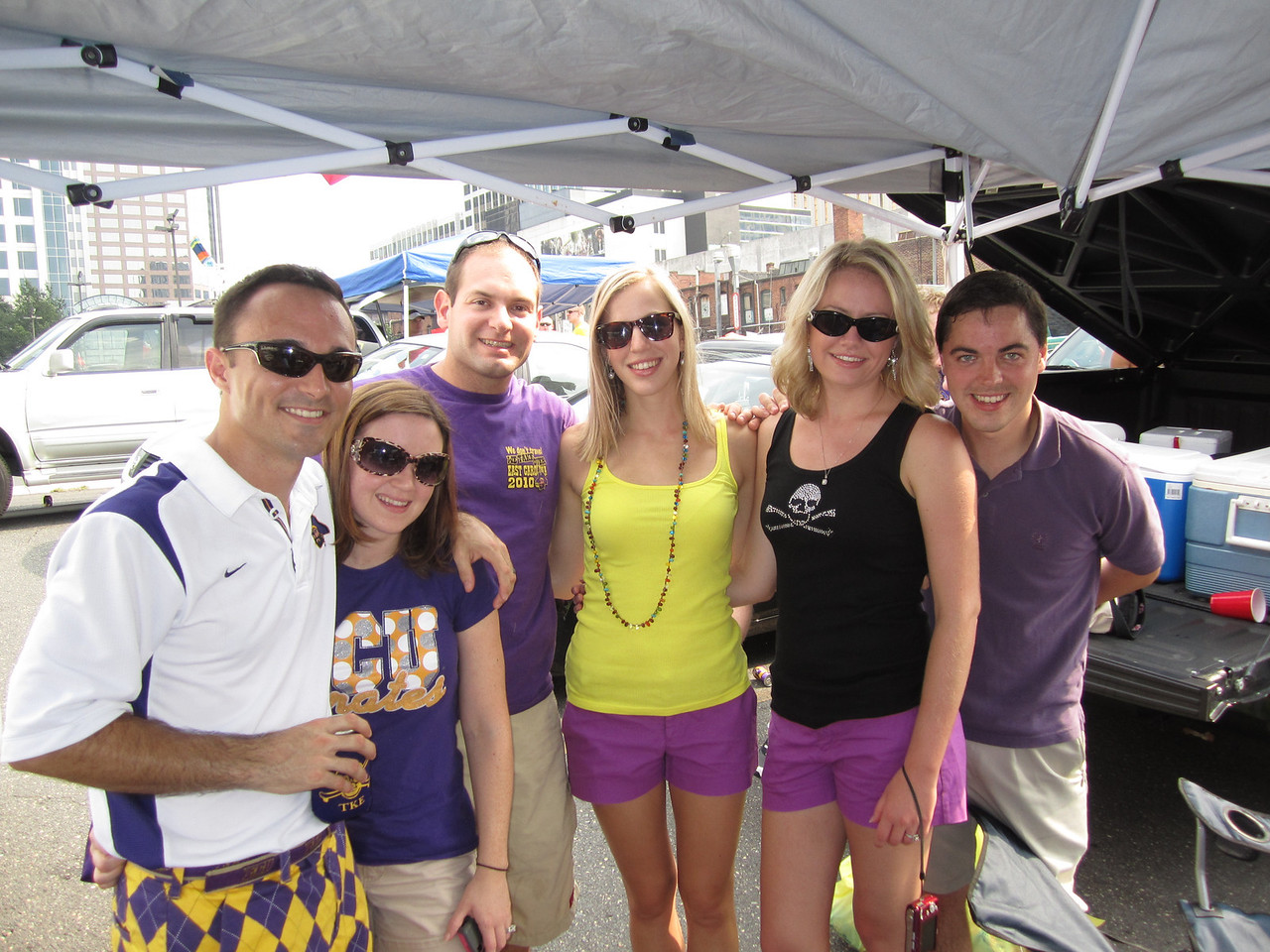 9/3/2011 ECU vs South Carolina  Chris, Heather, Jon, Erin, Brittany, Kevin
