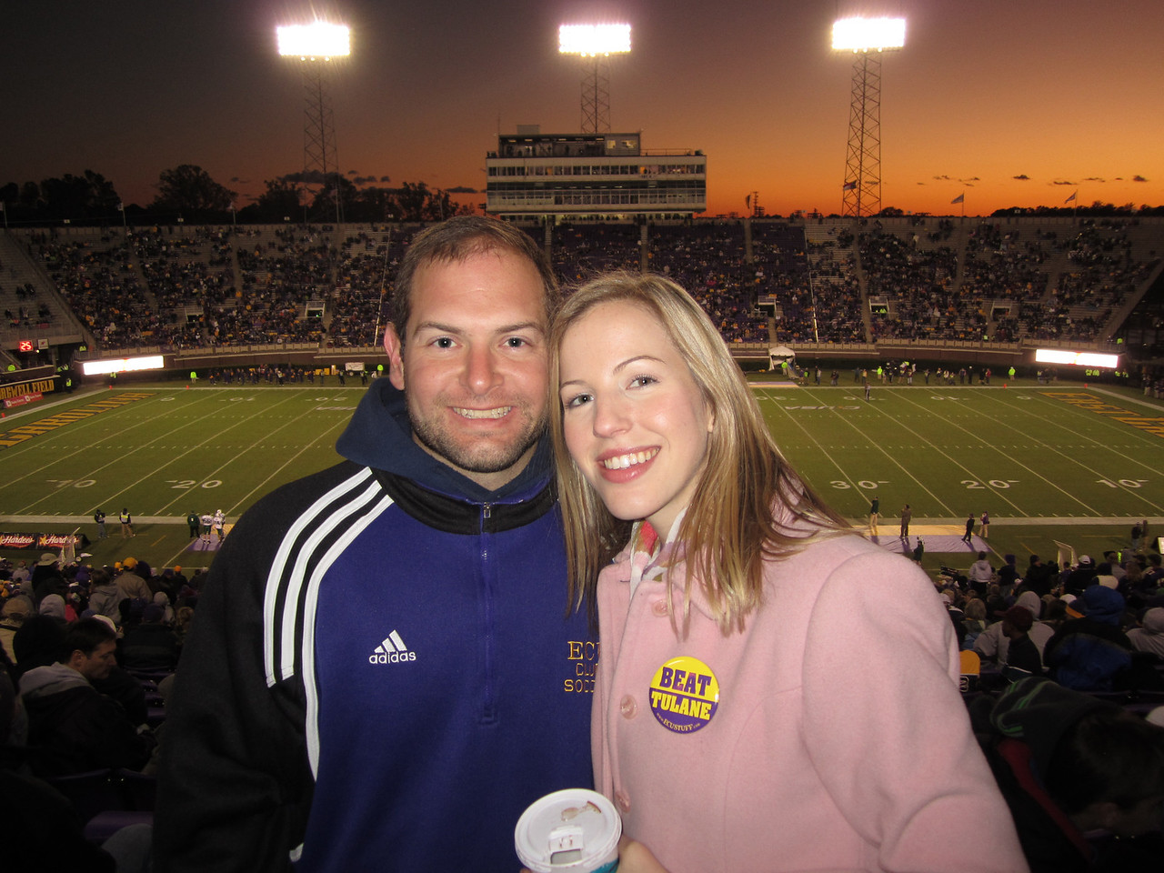 10/29/2011 ECU vs. Tulane (Homecoming) - Jon Deutsch, Erin Acree