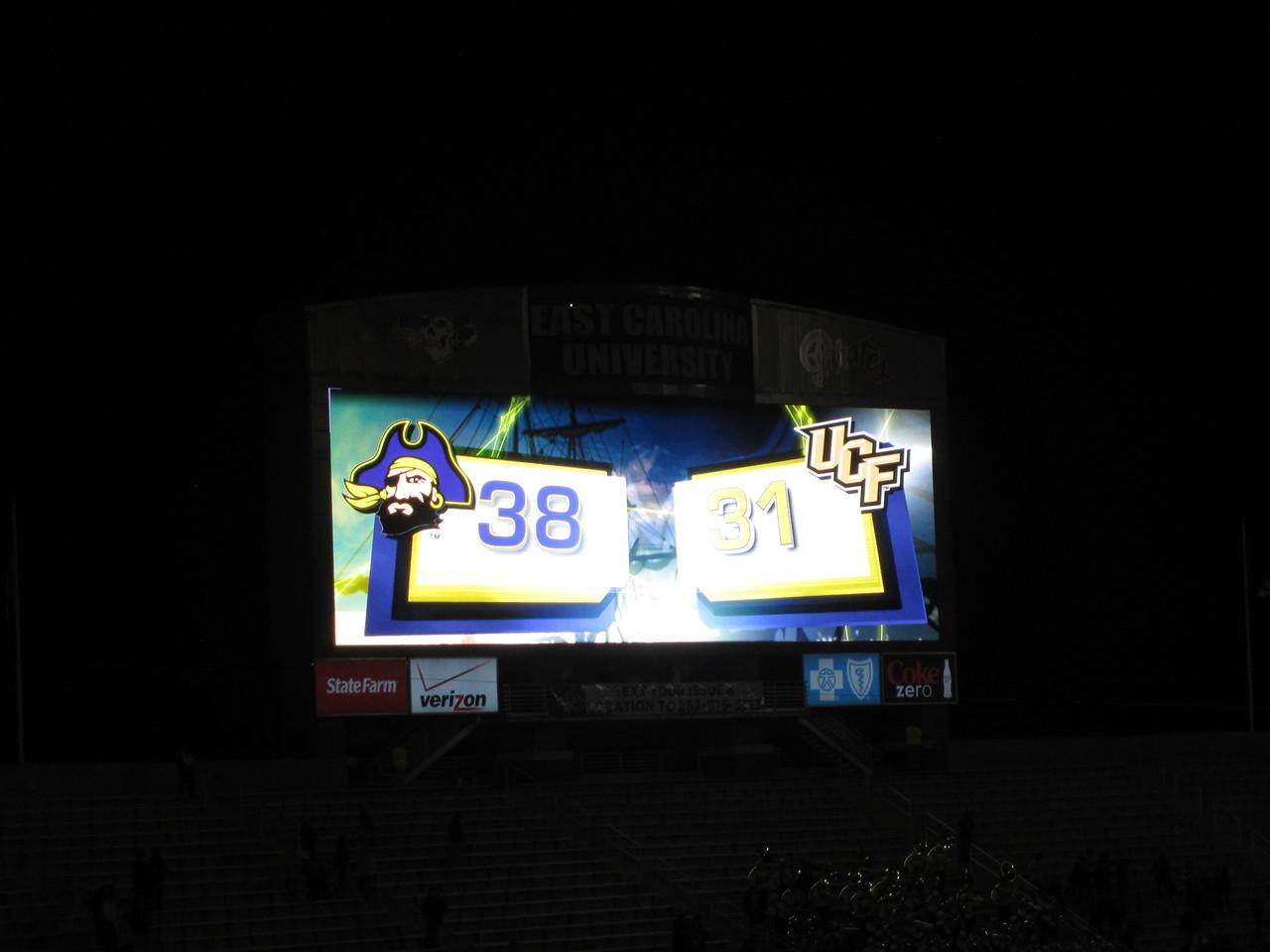 11/19/2011 ECU vs University of Central Florida - 38-31