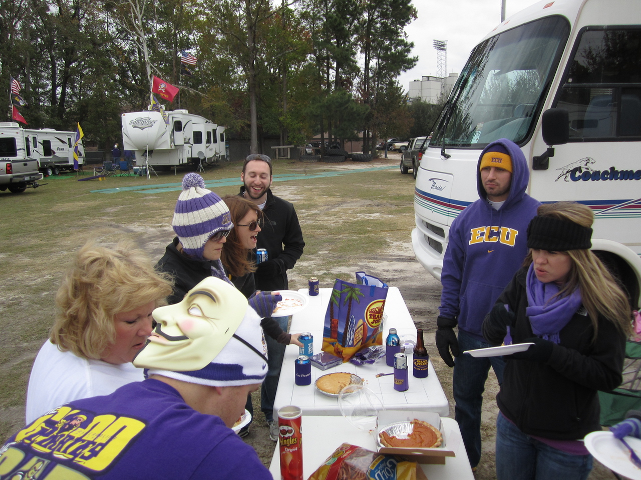 11/5/2011 ECU vs Southern Miss - chow table