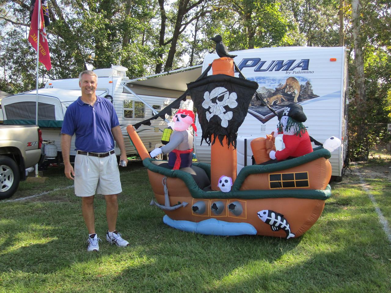 9/10/2011 ECU vs Virginia Tech  Jim and his pirate ship