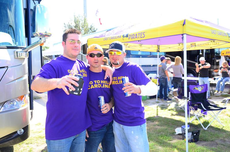 10/1/2011 ECU vs North Carolina  Chris K, Chris W, Nikki