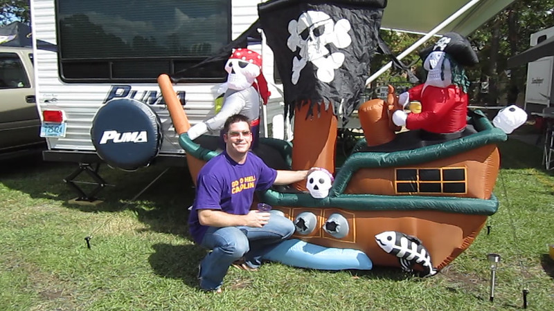 10/1/2011 ECU vs North Carolina  Chris K with the pirate ship