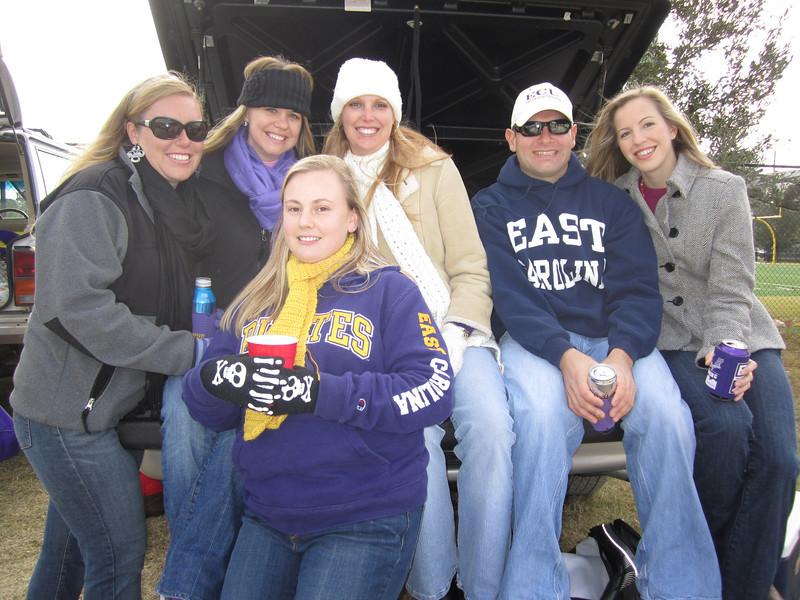 11/5/2011 ECU vs Southern Miss - Lauren, Jen, Jess, Staci, Jon, Erin