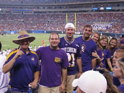9/3/2011 ECU vs South Carolina  JG, Jon, Preston, Tom, Laura Ashley, Jen, Stephanie