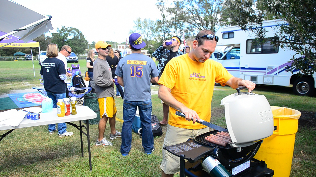 10/1/2011 ECU vs North Carolina  Jon cooking hot dogs