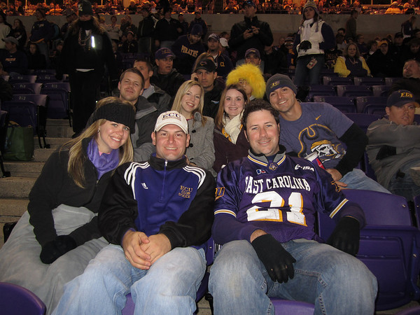 11/5/2011 ECU vs Southern Miss - Jen, Ross, Jon, Erin, Heather, Preston, Chris
