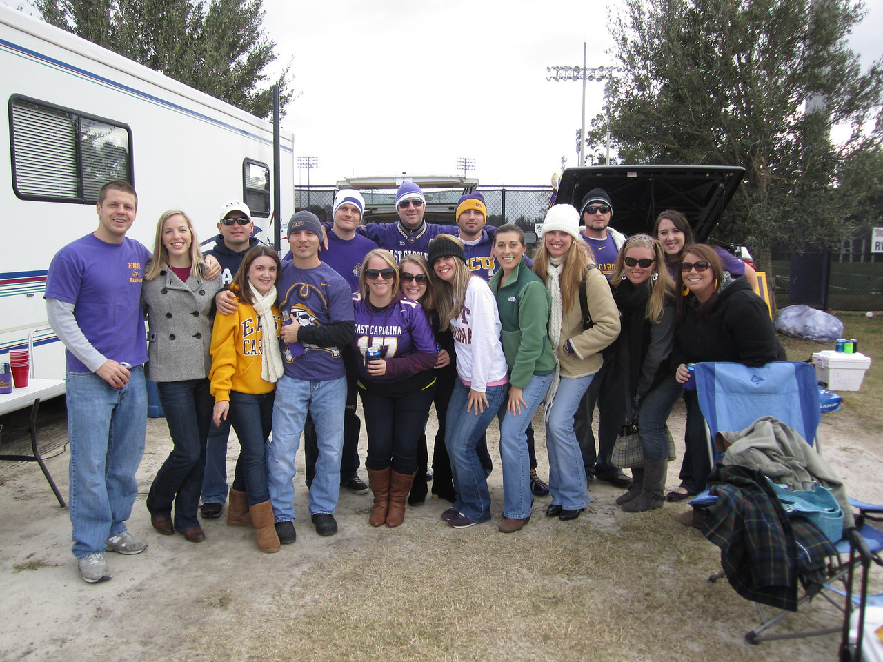 11/5/2011 ECU vs Southern Miss - Ross, Erin, Jon, Heather, Chris, Chuck, Anne-Stewart, Preston, Jen, Billy, Marisa, Staci, Lauren