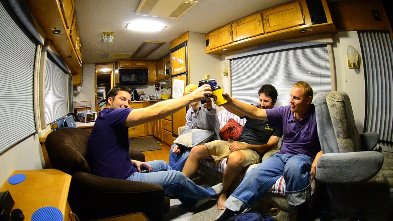 10/1/2011 ECU vs North Carolina  Chilling in the RV Friday night with Chris K, Chris W, Preston and JG.