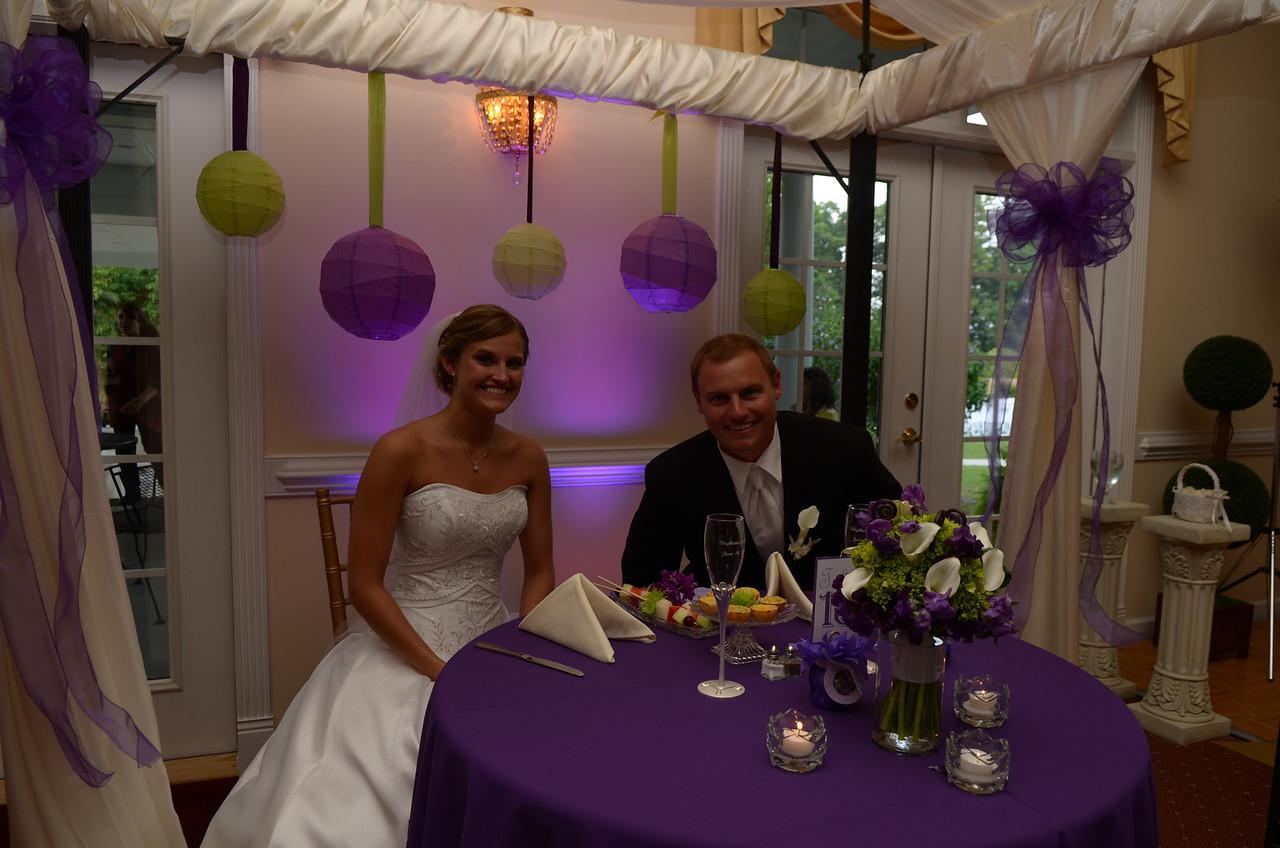 Stephanie Ferguson and JG Ferguson at the head table.
