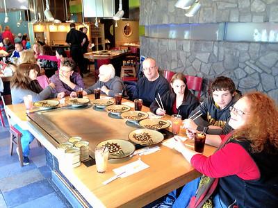 Bday lunch at Benihana's for Jodi and Luke