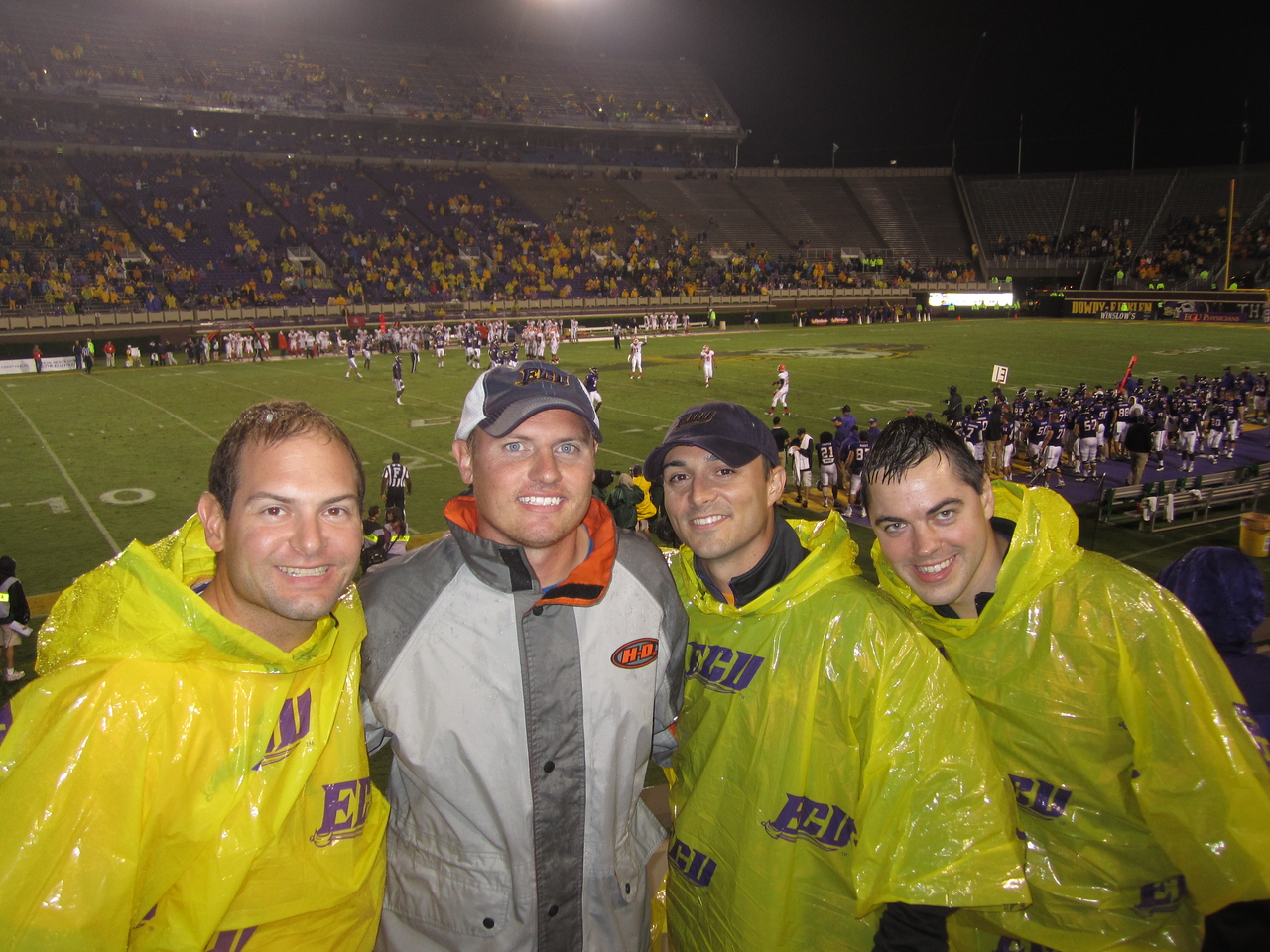 9/29 UTEP Back in the stadium during the 4th quarter Jon, JG, Chris, Kevin