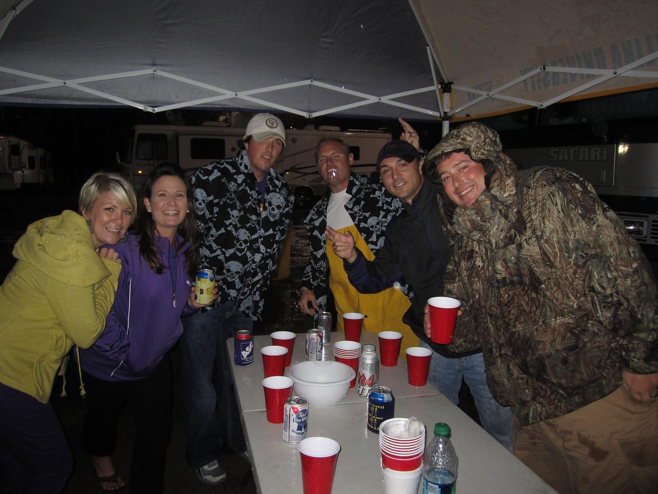 9/29 UTEP Postgame flip cup. Natalie, Lindsay, Aaron, JG, Chris, Jason