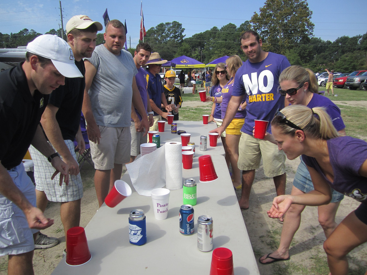 9/1 ECU vs App State Flip cup (the kid at the end was playing with water)
