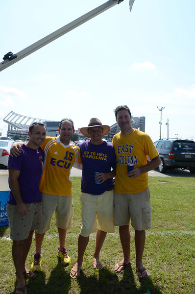 9/8 Chris, Jon, JG and Preston in front of the stadium at our tailgate spot.