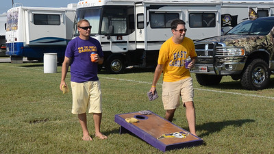 9/8 JG & Preston playing corn hole.