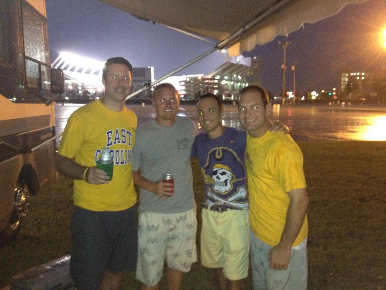 9/7 Preston, JG, Chris and Jon after we arrived.