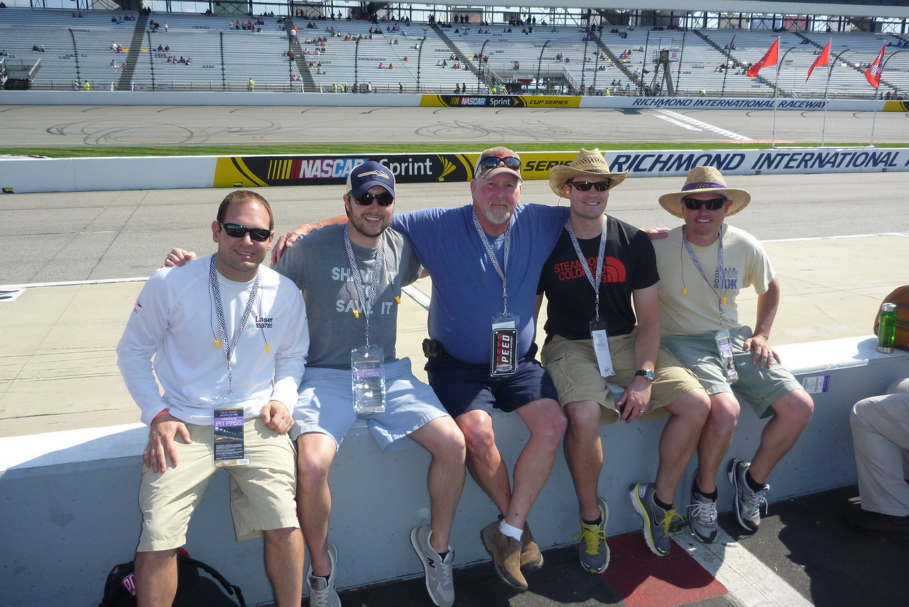 4/26/2013 - Jon, Chris, Donald, Ken, JG during qualifying for the Toyota Care 250.