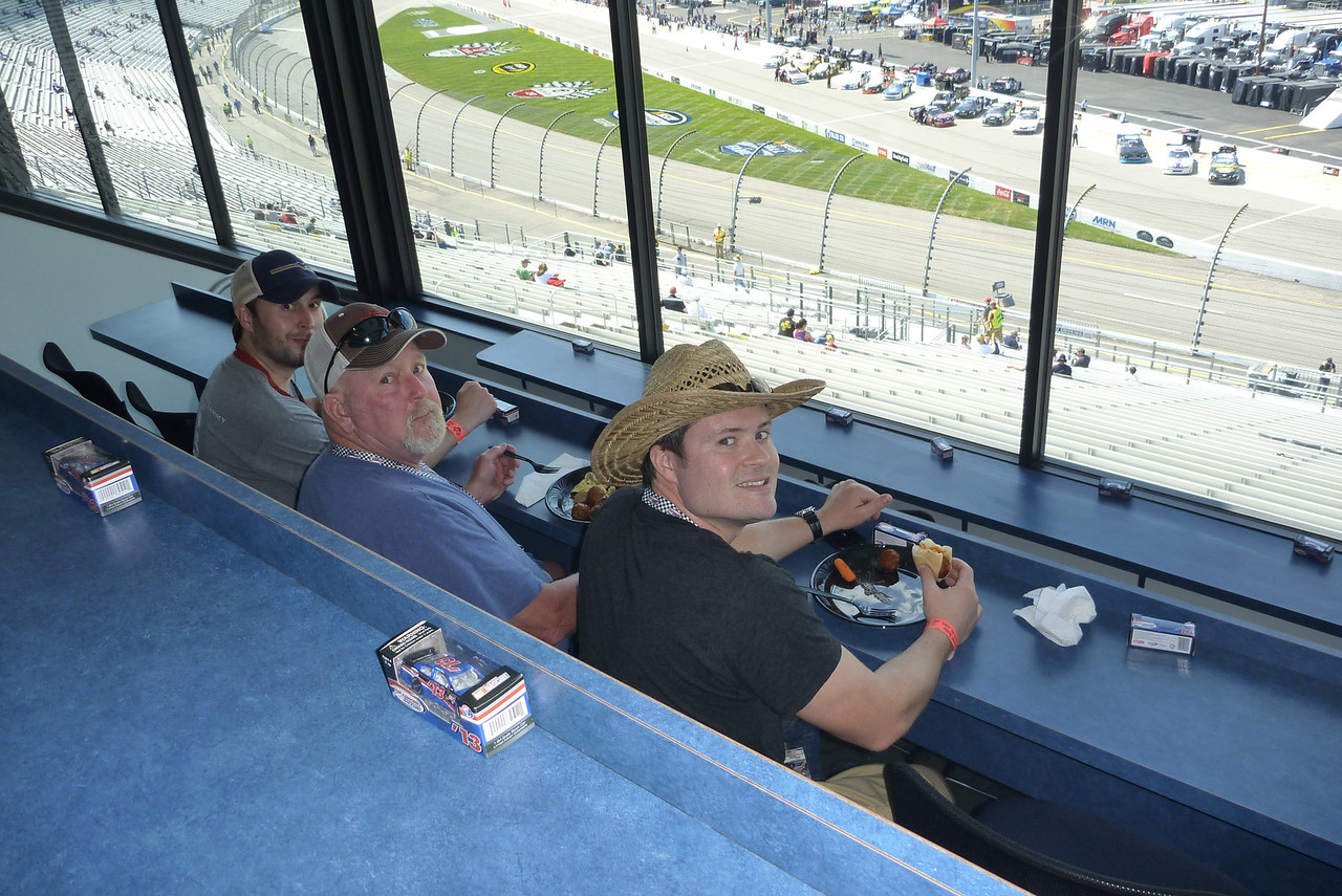4/26/2013 - Chris, Donald, Ken in the suite before the Toyota Care 250.