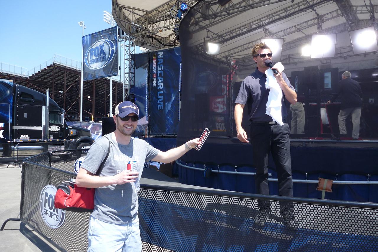 4/26/2013 Chris winning stuff at the Fox stage