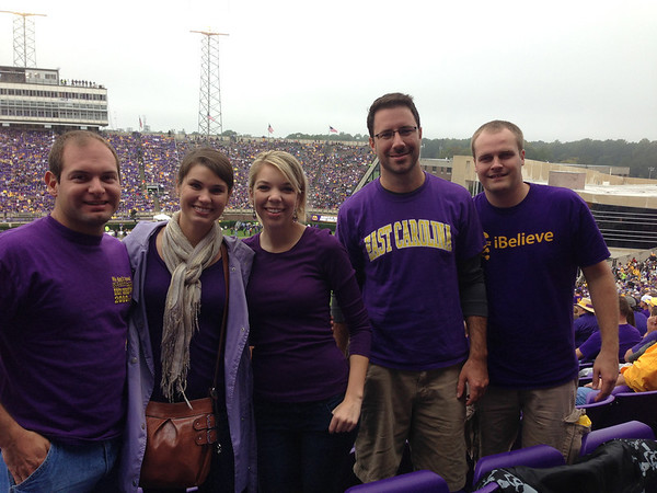 10/19 ECU vs Southern MissJon, Melissa, Ashley, Preston, Chuck
