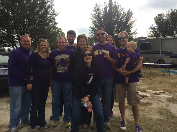 11/16 ECU vs UABJG, Stephanie, Jon, Wayne, Courtney, Missy, Preston, Cassie, Chuck, Gunner