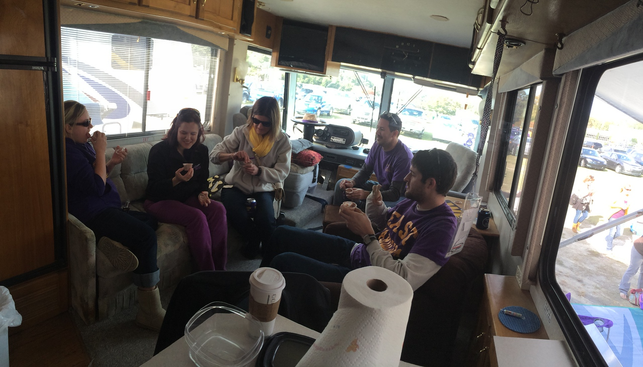 11/9 ECU vs Tulsa  Pudding shots in the RV.