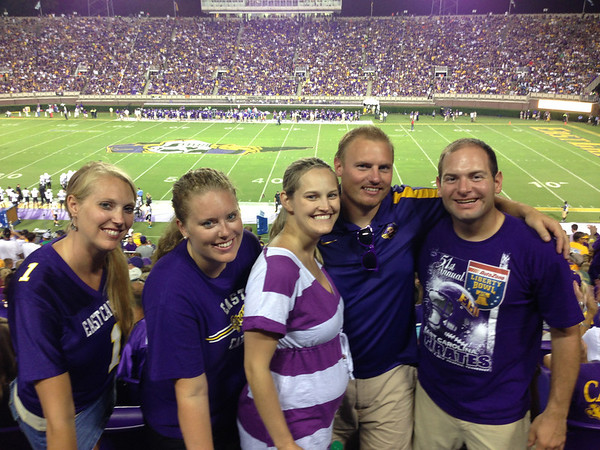8/30 ECU vs ODUStaci, Lauren, Stephanie, JG, Jon
