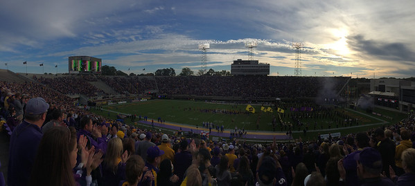 11/9 ECU vs Tulsain the game.