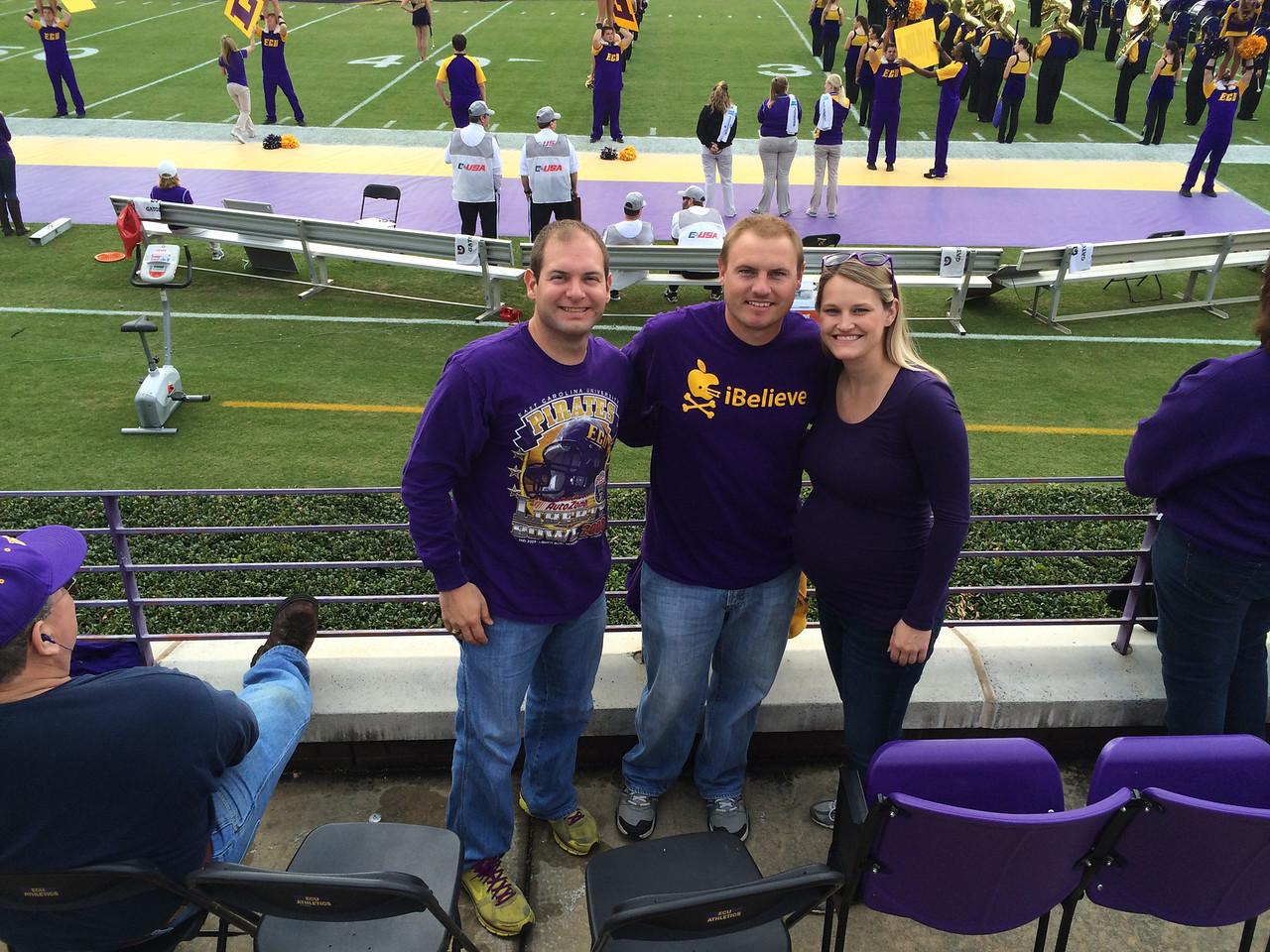 11/16 ECU vs UAB  At our seats: Jon, JG, Stephanie