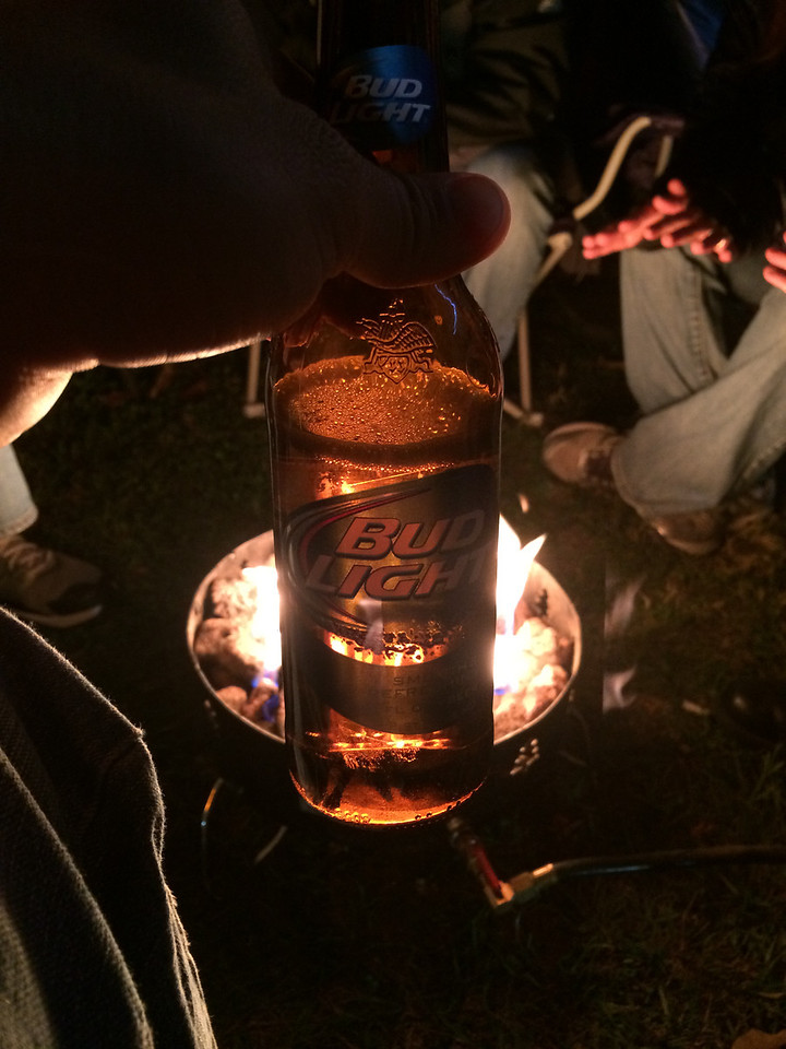 11/9 ECU vs Tulsa  Bud Light by the fire.