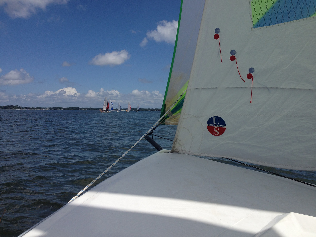 The fleet just ahead of us by the halfway point.