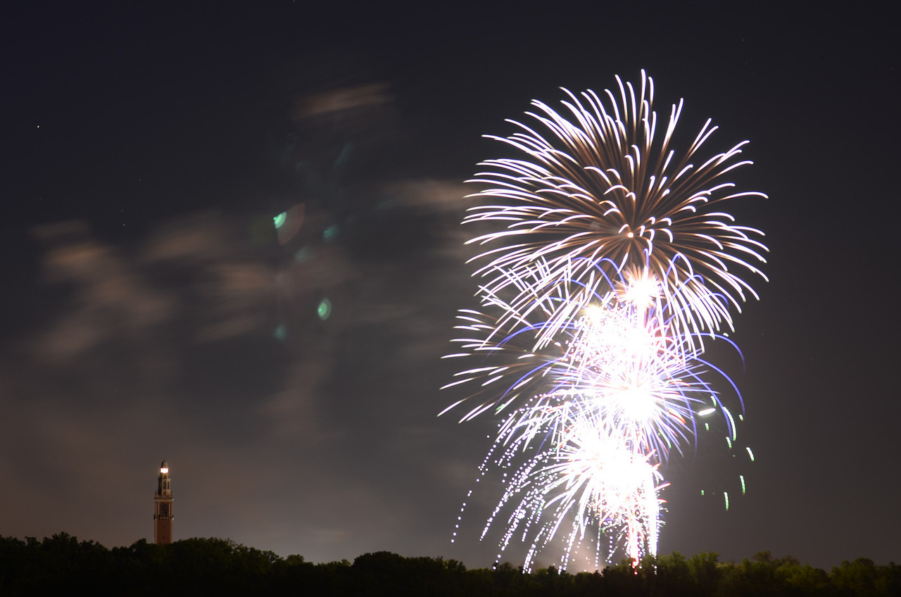 Fireworks at the Carillon