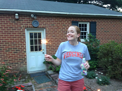 Lauren with a sparkler
