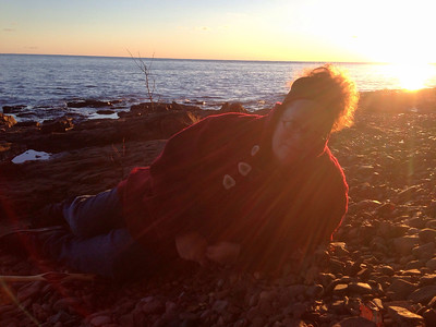 JW chillin' on Lake Superior Halloween day 2014