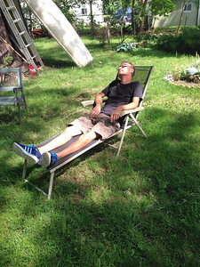 Doug chillin' in his backyard Sept 2014