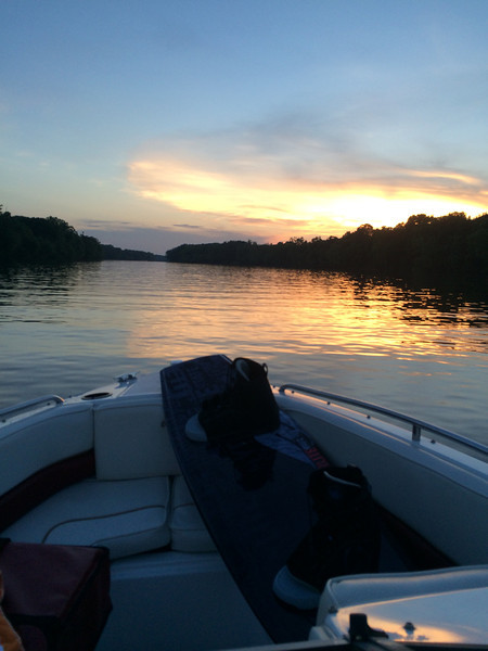 6/10 sun setting on the James