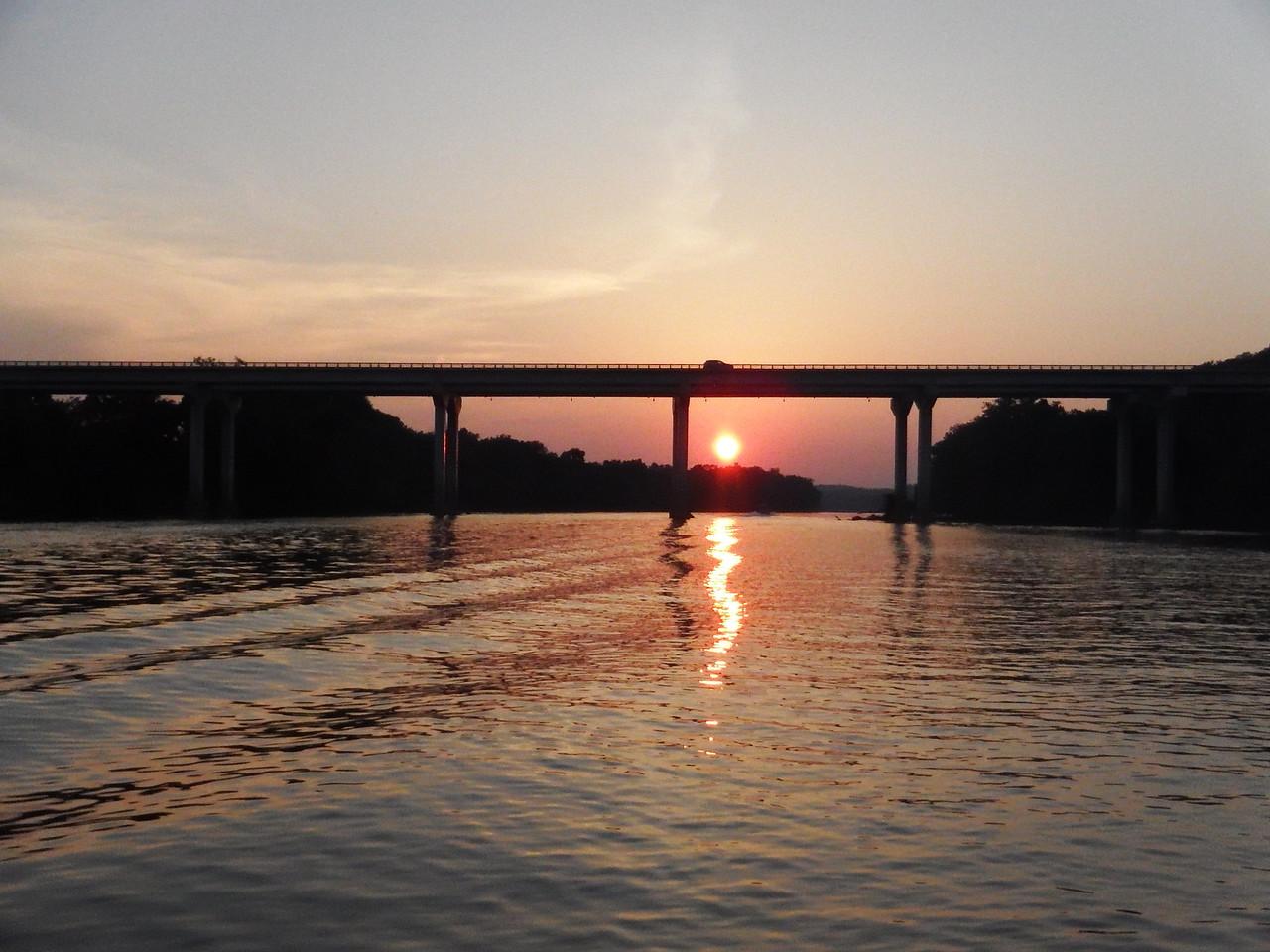 6/17 Sunset behind the 288 bridge