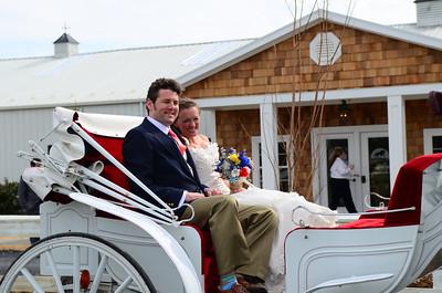 Mark and Melissa returning via carriage.