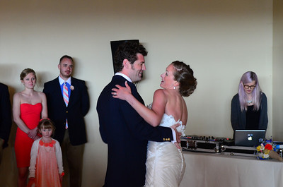 Melissa and Mark's first dance.