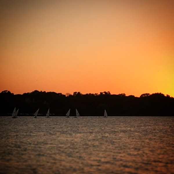 Sunset Laser Sailing on White Rock Lake