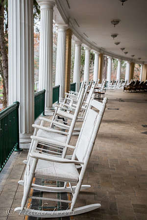 The West Baden Springs porch surrounding the hotel.